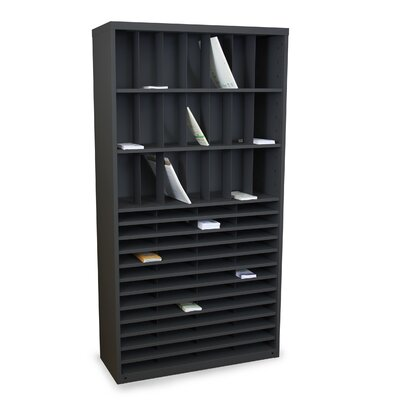 Mailroom Horizontal/Vertical Sorter with 69 Pockets Finish: Black