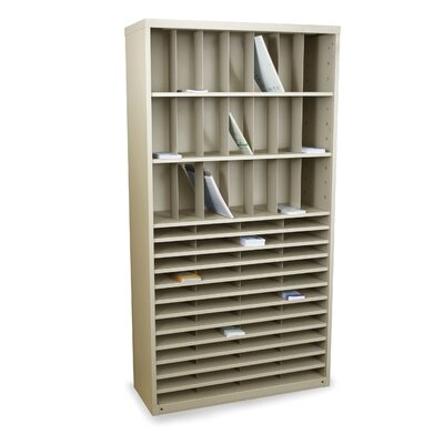 Mailroom Horizontal/Vertical Sorter with 69 Pockets Finish: Putty