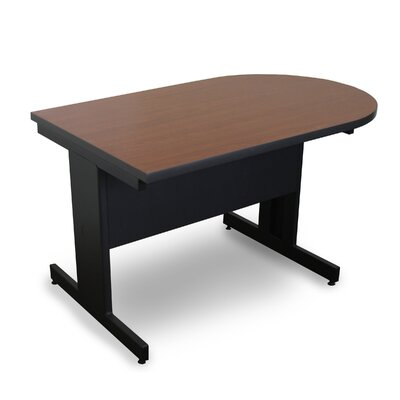 Vizion 48 x 30 Peninsula Classroom Table Tabletop Finish: Cherry