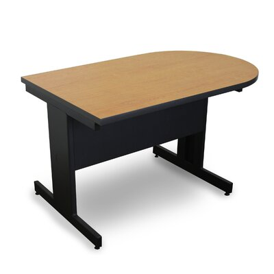 Vizion 48 x 30 Peninsula Classroom Table Tabletop Finish: Oak