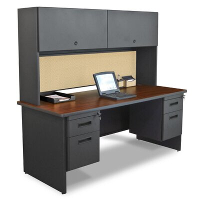 Money saving Door Computer Desk Hutch Product Photo