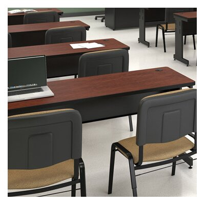 36 W Training Table with Casters Tabletop Finish: Mahogany Laminate/Dark Neutral, Size: 29 H x 42 W x 24 D