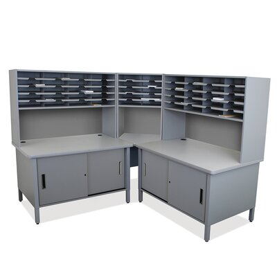 Mailroom 50 Slot Organizer with Cabinet Finish: Slate Gray Product Picture 6444