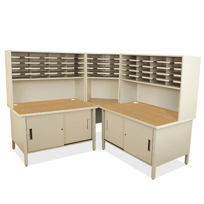 Mailroom 50 Slot Organizer with Cabinet Finish: Putty Product Picture 650