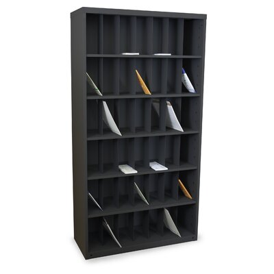 Mailroom Vertical Sorter with 42 Pockets Finish: Black