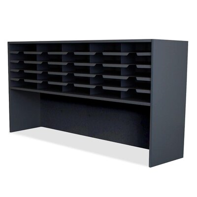Mailroom 20 Pocket Sorter/Riser Finish: Black