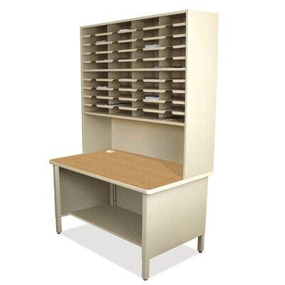 40 Compartment Mailroom Organizer Finish: Putty