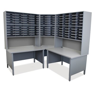 Mailroom 100 Slot Organizer Finish: Slate Gray Product Picture 757