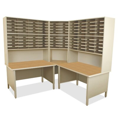 100 Compartment Mailroom Organizer Finish: Silver