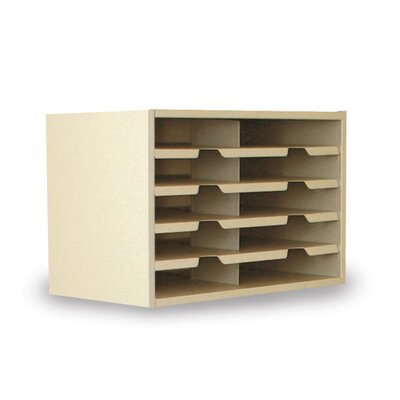 Mailroom 10 Pocket Sorter Finish: Putty