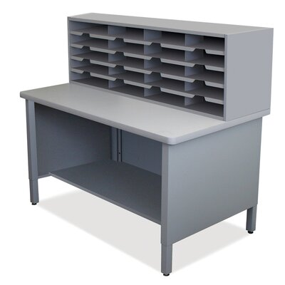 20 Compartment Mailroom Organizer Finish: Slate Gray