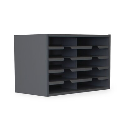 Mailroom 10 Pocket Sorter Finish: Black