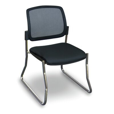 Fermata� Mesh Sled Base Visitor Chair Finish: Aluminum