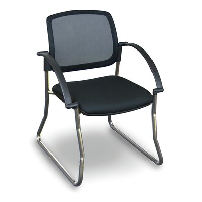 Fermata Mesh Sled Base Visitor Chair with Arms Finish: Aluminum