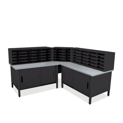 50 Compartment Mailroom Organizer Finish: Black