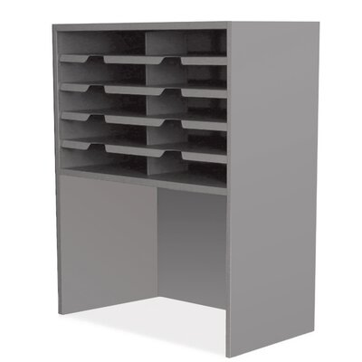 Mailroom 10 Pocket Sorter/Riser Finish: Slate Gray