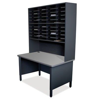 40 Compartment Mailroom Organizer Finish: Black
