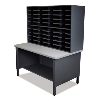 40 Compartment Mailroom Organizer Finish: Black