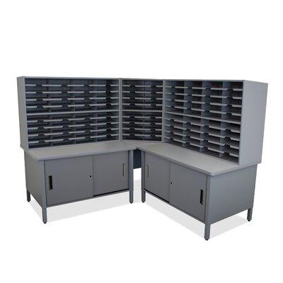 100 Compartment Mailroom Organizer Finish: Slate Gray