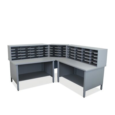 50 Compartment Mailroom Organizer Finish: Slate Gray