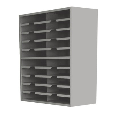 Mailroom 20 Pocket Sorter Finish: Slate Gray