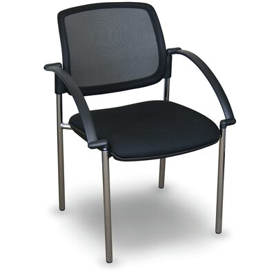 Fermata� Mesh Stackable Visitor Chair with Arms Finish: Aluminum