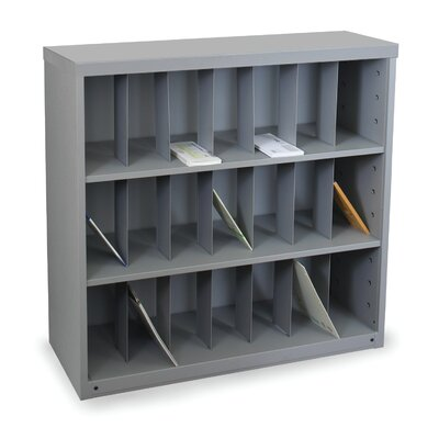 Mailroom Vertical Sorter with 21 Pockets Finish: Slate Gray