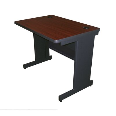 36 W Training Table with Casters Tabletop Finish: Mahogany Laminate/Dark Neutral, Size: 29 H x 36 W x 24 D
