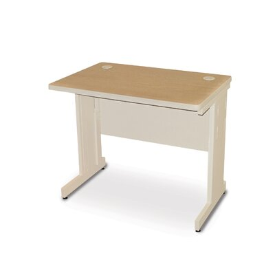36 W Training Table with Casters Tabletop Finish: Oak Laminate/Putty, Size: 29 H x 36 W x 30 D