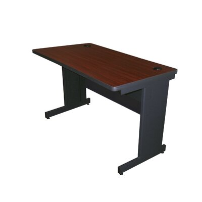 36 W Training Table with Casters Tabletop Finish: Mahogany Laminate/Dark Neutral, Size: 29 H x 48 W x 24 D