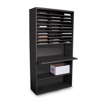 Mail Sorter Workstation with Adjustable Work Surface Finish: Black