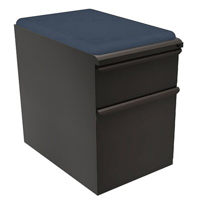Zapf 2-Drawer Mobile Pedestal File Cabinet Fabric Finish: Iris, Finish: Pumice Product Photo 6583