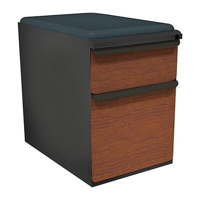 Zapf 2-Drawer Mobile Pedestal File Cabinet Fabric Finish: Iris, Drawer Finish: Collectors Cherry Laminate, Frame Finish: Dark Neutral
