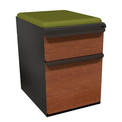 Marvel Office Furniture Zapf 2-Drawer Mobile Pedestal File Cabinet -Drawer Finish:Solar Oak Laminate, Frame Finish:Featherstone, Fabric Finish:Forsythia at Sears.com