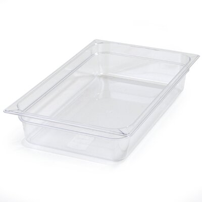 """Gastronorm Food Pan (Set of 6) Color: Clear, Size: 6"""" 10202B07"""
