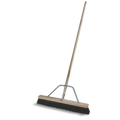Medium Polypropylene Sweep Floor Brush (Set of 4)