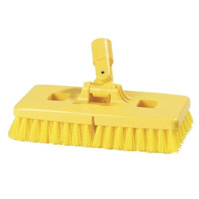 Carlisle food service products Swivel Scrub® Floor Scrub Brush with Stiff Polypropylene Bristles (Set of 12)