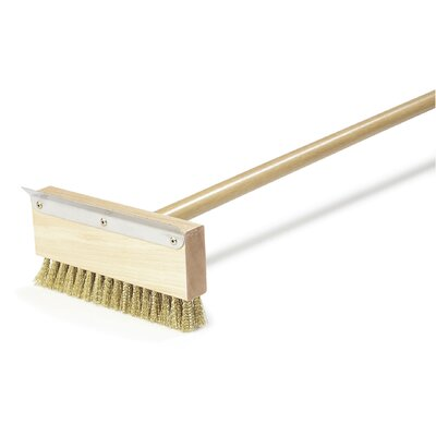 Oven Brush and Scraper with Brass Bristles