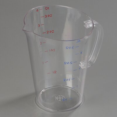 1 Gallon Polycarbonate Measuring Cup (Set of 6) 4314507