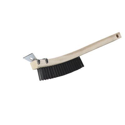 Flo-Pac� Steel Wire Brush with Scraper and Steel Bristles (Set of 12)