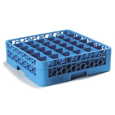 OptiClean� 36-Compartment Glass Rack with1 Extender (Set of 4) Finish: Blue
