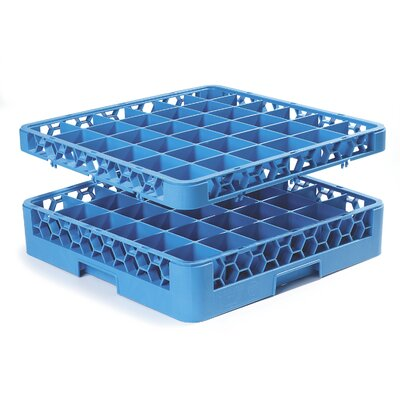 OptiClean� 36-Compartment Glass Rack with1 Extender (Set of 4) Finish: Yellow and Blue
