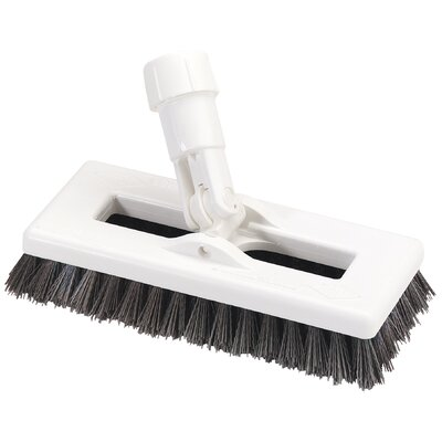 Swivel Scrub with Polyester Bristles Color: White