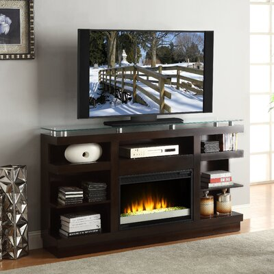 "Legends Furniture Novella 65"" TV Stand with Electric Fireplace - Color: Dark Chocolate at Sears.com"