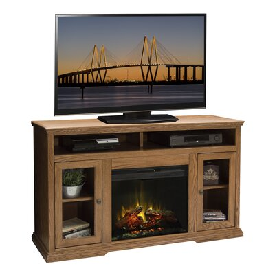 Colonial Place 59 TV Stand with Fireplace