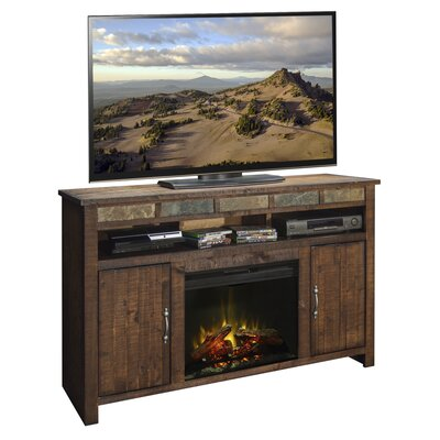 Old West 60 TV Stand with Fireplace
