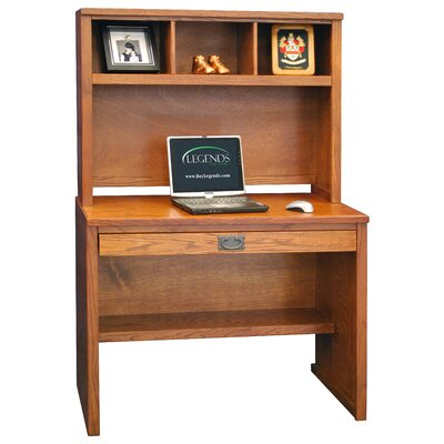 Furniture office furniture computer mission collection computer - Mission style computer desk with hutch ...