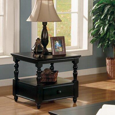 Cheap Legends Furniture Forest Glenn End Table in Black Rub Through (LFN1447)