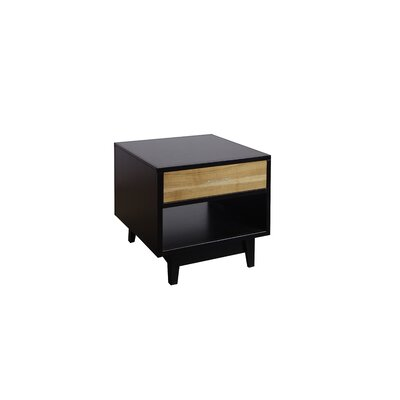 Darrel Contemporary End Table with Storage