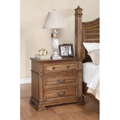 Rancho Palos Verdes 3 Drawer Nightstand